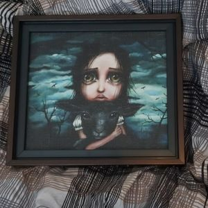 Gothic canvas print in frame